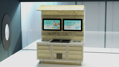 Design a Counter for your cafe / fast food from the drawing,3D model &rendering