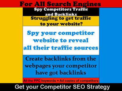 Spy Competitors Website Traffic and Backlinks - Make your Website SEO Strategy