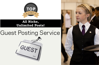 Publish a guest post any genre related article on High PR blogs : Premium Blogs