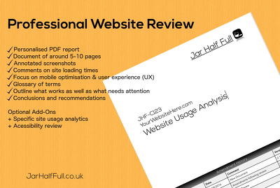 Create a professional personalised website review