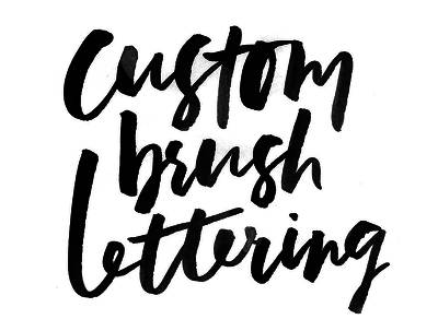 Create a brush lettered word/phrase