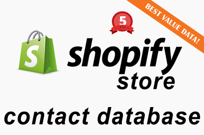Give you the Contact Details for 100 Active Shopify Stores for B2B Email Marketing