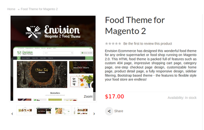 Create a Food theme for Magento 2