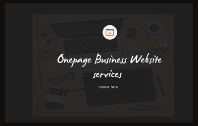 Design onepage Business Template