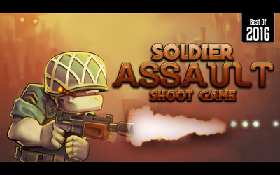 "UNITY 2D Action game For Mobile IOS & Android ""Soldier Assault Shoot Game"" Template"