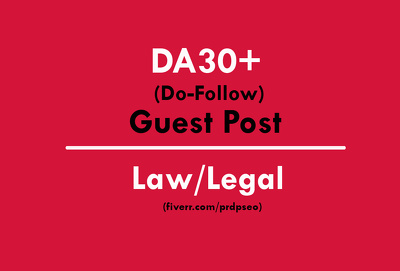 Publish a Guest Post on Law Site DA30+ with Do-Follow link