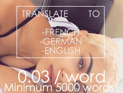 Native translator- Translate 5000 words, ebook, manual, documents to FR, ENG, DE