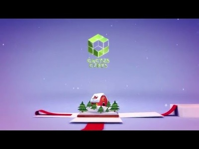 Create a 3D Christmas logo animation based on a template