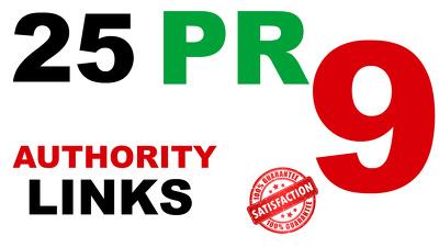 25 High PR 9 Backlinks Google Update Safe SEO Linkbuilding