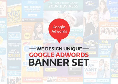 Design unique banner Set (Google Adwords)