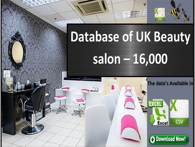 A comprehensive database of UK Beauty Salons database