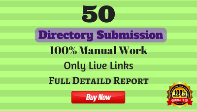 Do 50 Directory Submission ☑ ☑ ☑ 100% Manual Work ☑ ☑ ☑ Only Live links ☑☑☑
