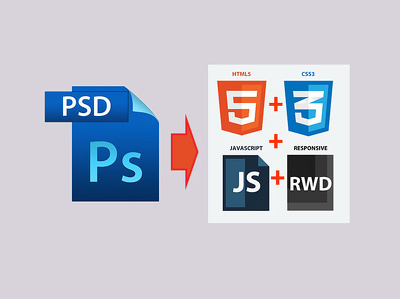 Convert PSD, AI Responsive Bootstrap 3, HTML5, JS and CSS3