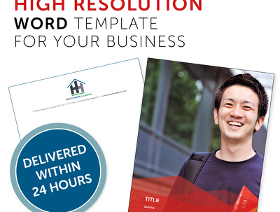 Create a hi-res Microsoft Word template for your business