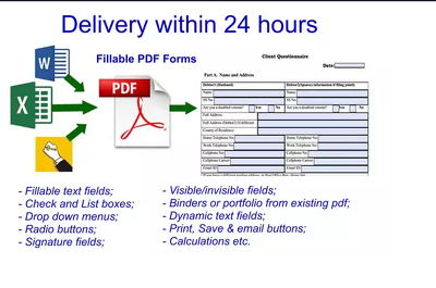 Create you  fillable PDF forms