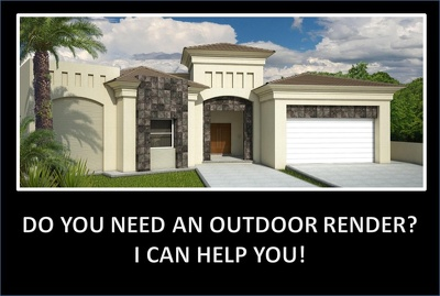 Make an outdoor realistic render