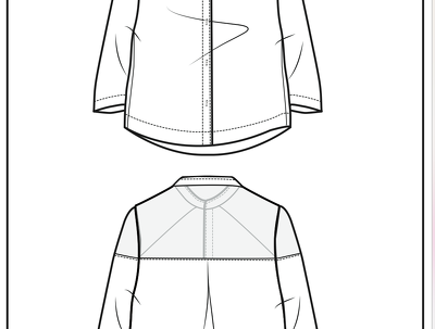 Fashion flat drawing (Illustrator CAD)