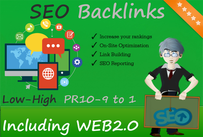 provide 100 Backlinks from Low - High PR10, PR9 to PR1