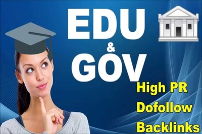 Build 200 High Quality EDU and GOV Backlinks PR 4 to 10