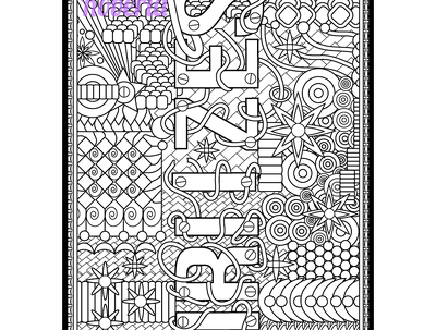 Crete 25 unique colouring book patterns or mandalas