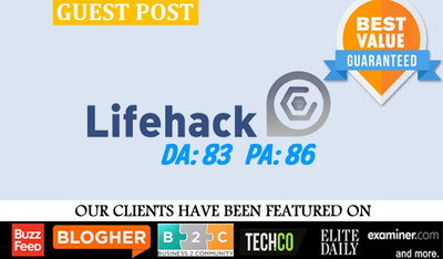 Write and publish a premium guest post on LIFEHACK.org DA86