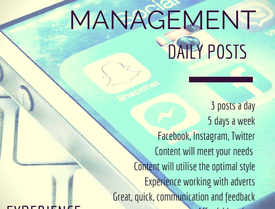 A week of Social Media Management for all your accounts!