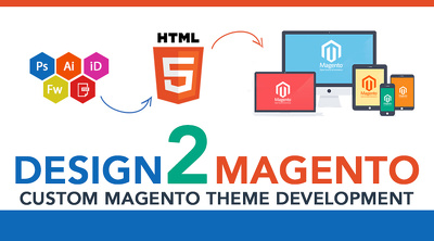 Code design to magento theme development from (home only)
