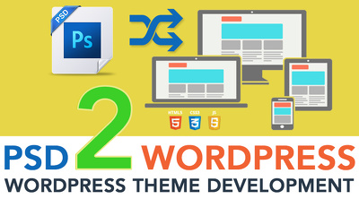 Convert PSD to Wordpress (Home + inner)