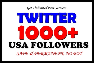 1000+ real human & Permanent TWITTER active Followers to Promote your Fan Page