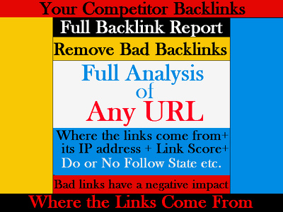 FULL BACKLINK Report For Your or Competitor Website