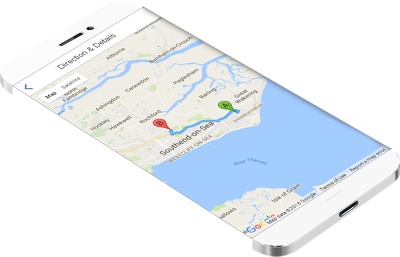 Taxi booking app with live GPS tracking