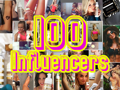 Give you the contact details for 100 Top Social Media Influencers / Bloggers