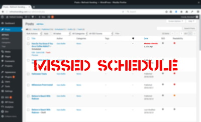 "Permanently fix all WordPress ""Missed Schedule"" errors on your blog within 1 day"