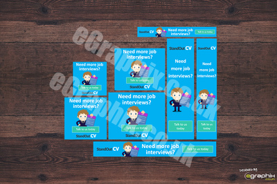 Design a Professional Banner Ad Set (8 sizes) Google Advertising GDN