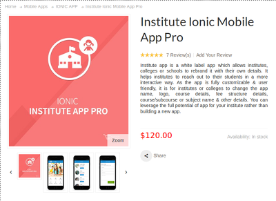 Create an  Institute Ionic Mobile App Pro