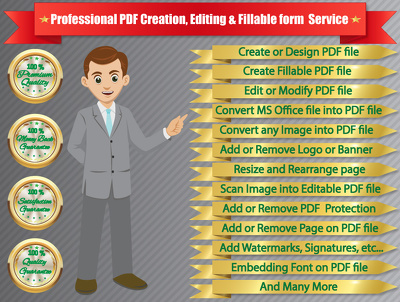 Edit PDF / Creat Interactive Fillable PDF Form