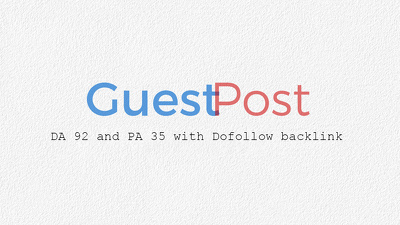 Give you DA92 Guest Post