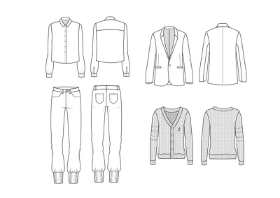 Create a Technical Drawing (CAD) for your fashion garment