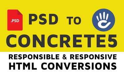 Concrete5 CMS development from psd or ai design