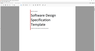Write a Development Specification document with up to 5 pages