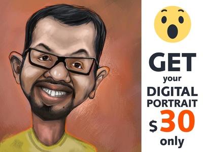 Draw your beautiful digital portrait