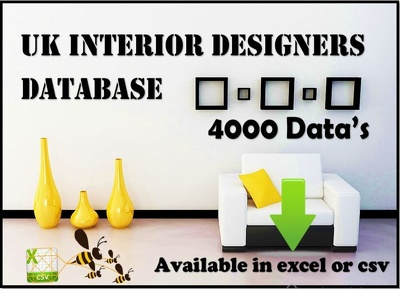 A comprehensive database of UK interior designer database 4K