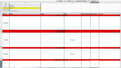 Create a monthly social media content planner (x 2 platforms)