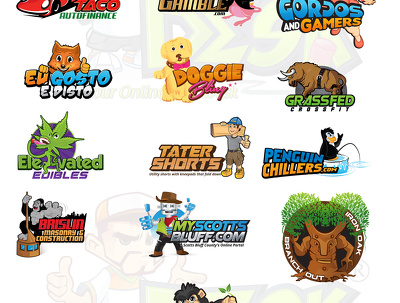 Design a Mascot cartoon Character and Brand Name with  Vector files