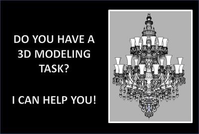 Make a 3D model of a basic object
