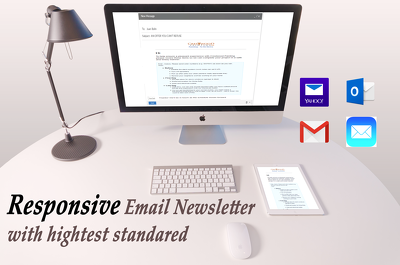 Code a responsive Email newsletter for you