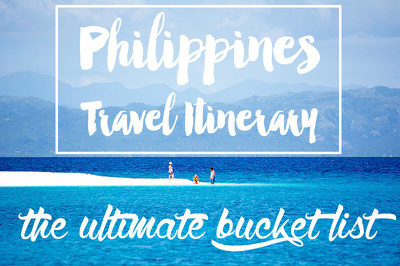 Create a complete travel itinerary of your trip to the Philippines