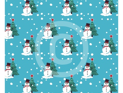 Illustrate a Christmas themed background pattern