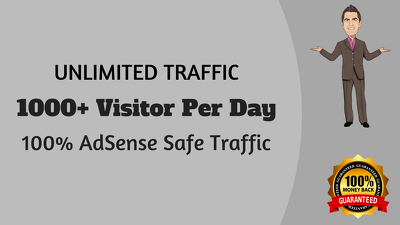 Drive 10,000+ Real Traffic  ☑ ☑ ☑100% AdSesnse Safe ☑ ☑ ☑ Money Back Guarantee ☑☑☑