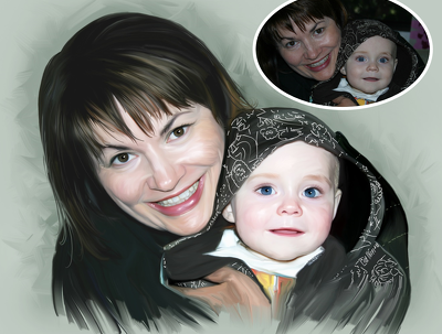 Create a Personalised Digital Oil Painting Hand Drawn From Your Photos